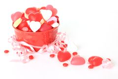 Valentine candy. Studio on white stock images