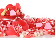 Valentine candy. Studio on white royalty free stock images