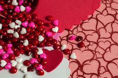Valentine with candy Stock Images