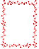 Valentine Candy Corn Border or Frame Royalty Free Stock Images