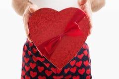 Valentine Candy Heart Gift Arkivbild