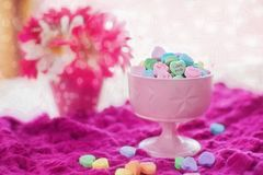 Valentine Candy, Hearts Stock Photo