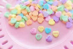Valentine Candy, Hearts Royalty Free Stock Photos