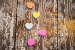 Valentine Candy Hearts Stock Photography