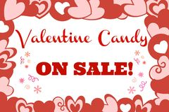 Valentine Candy Sale Sign Royalty Free Stock Photos
