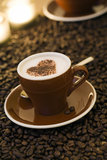 Valentine cappuccino Royalty Free Stock Images