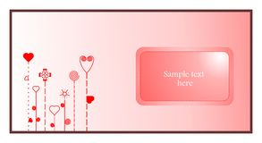Valentine card. Valentine abstract card with heart elements Stock Photo