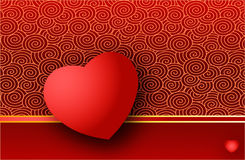 Valentine card. Valentine greeting card with heart - vector available Stock Photo