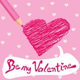 Valentine card. Valentine heart card design for valentine's day  vector Illustration Stock Photos