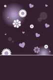 Valentine card. A valentine card with space for your text,with hearts and flowers.EPS file available Stock Photography