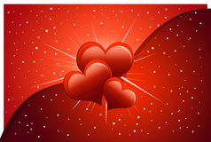 Valentine card. Beautiful valentine card background with dropping heart Royalty Free Stock Photography