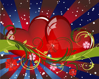 Valentine card. Abstract Valentine's day card. Vector illustration Royalty Free Stock Photography