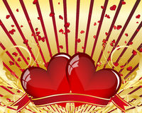 Valentine card. Abstract Valentine's day card. Vector illustration Royalty Free Stock Photo
