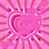 Valentine card. Grunge Heart Border for any purpose Royalty Free Stock Photo