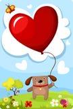 Valentine card. Vector illustration of a valentine card Stock Image
