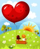 Valentine card. Vector illustration of a cute valentine card Royalty Free Stock Photo