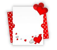 Valentine card. Blank valentine card with copy-space to write your own text Royalty Free Stock Images