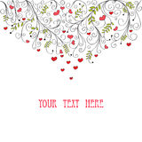 Valentine card. With copy space for text vector illustration