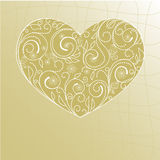 Valentine card. With filigree heart Stock Photo