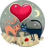 Valentine card. Vector illustration of a valentine card Royalty Free Stock Images