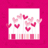 Valentine card. Vector illustration of Valentine card with hearts Stock Images