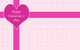 Valentine card. With love letter with pink hearts Royalty Free Stock Photography
