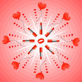 Valentine card vector illustration