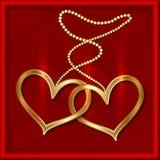 Valentine Card Immagini Stock Libere da Diritti