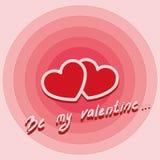 Valentine Card Fotografie Stock Libere da Diritti
