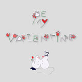 Valentine Card Fotografia Stock Libera da Diritti