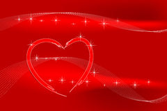 Valentine card. With heart and stars Royalty Free Stock Images