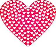 Valentine card. Red valentine card with hearts Royalty Free Stock Photos