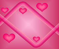 Valentine card. Pink valentine card with heart Stock Photo