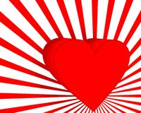 Valentine card. Red valentine card with heart Stock Image