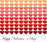Valentine card. With hearts in colours Stock Images