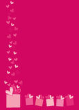 Valentine card. Vector illustration of love card for special occasions Royalty Free Stock Photo