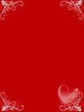 Valentine card. Illustration card for St. Valentine's day Stock Image