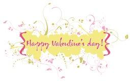 Valentine card. Grunge Valentine banner in pastel shades Stock Image