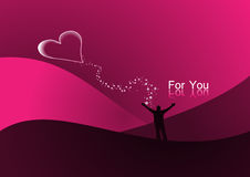 Valentine card. Background card designed for valentine day Royalty Free Stock Images