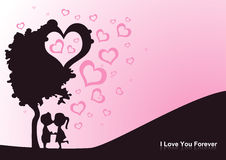 Valentine card. Background card designed for valentine day Stock Photo