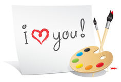 Valentine card of the artist Royalty Free Stock Images