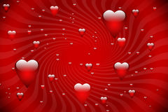 Valentine card background. Beautiful valentine card background with flying heart Stock Images