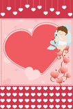 Valentine card background Stock Photos