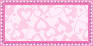 Valentine card background Stock Image