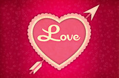 Valentine Card Background Stock Photo