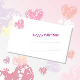 Valentine Card Background Royalty Free Stock Images