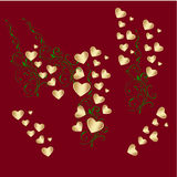 Valentine card background Royalty Free Stock Photos
