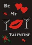 Valentine Card Banner Royaltyfri Bild