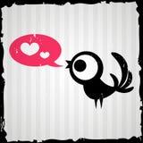 Valentine card with bird Royalty Free Stock Photos