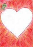 Valentine Card Border Royalty Free Stock Photos
